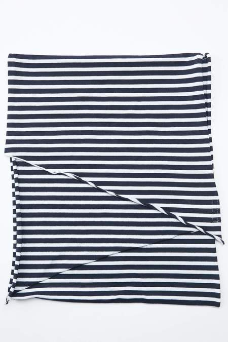 Engineered Garments Long Scarf - Navy/White PC Stripe Jersey