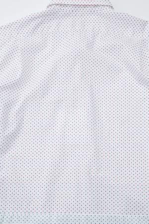 Engineered Garments Spread Collar Shirt - Red/Navy Small Polka Dot