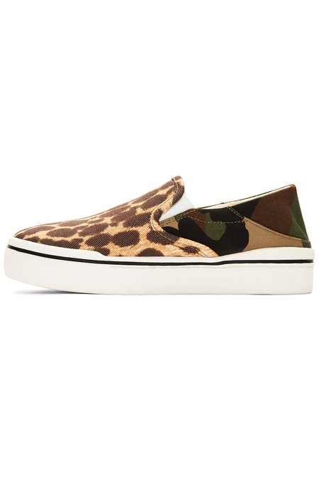 R13 Slip On Sneakers - Camo Cheetah