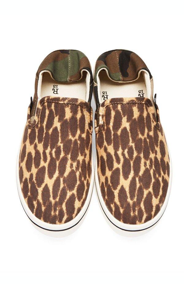 R13 Slip On Sneakers - Camo Cheetah