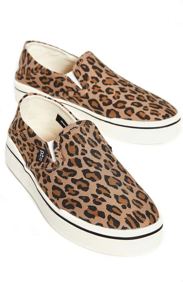 R13 Slip On Sneakers - Leopard