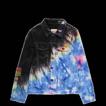 Sugarhill Northern Light Denim Jacket - Tie Dye