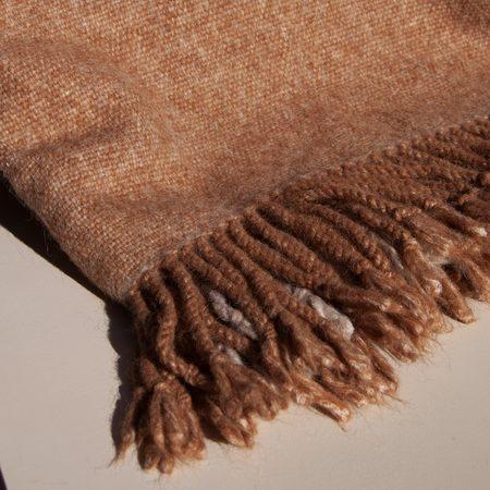 Lauren Manoogian Handwoven Plaid Blanket - Camel