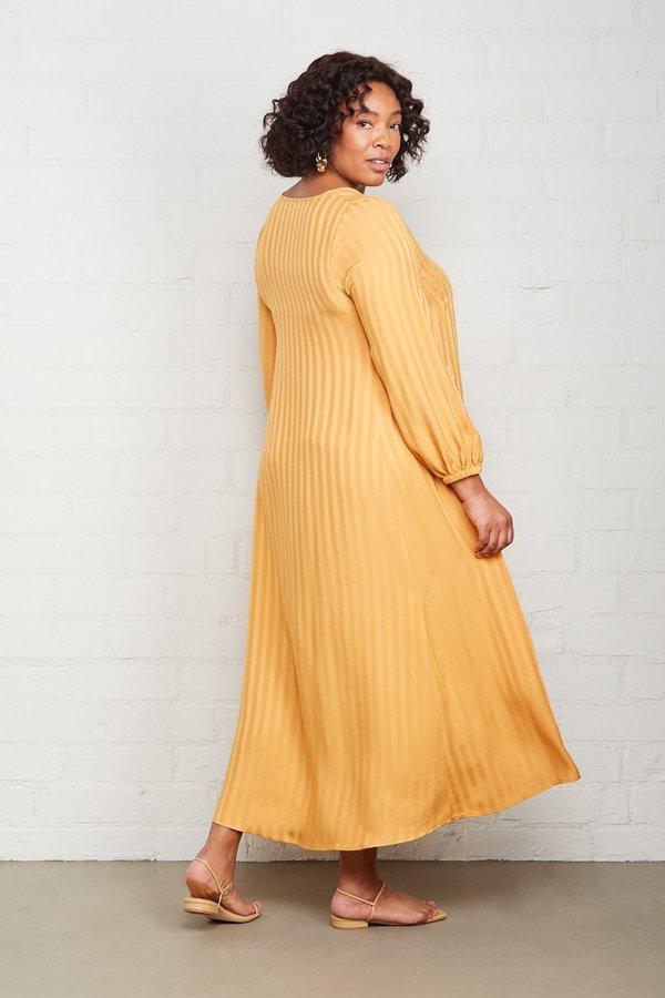 Rachel Pally Shadow Stripe Manon Dress - Marigold