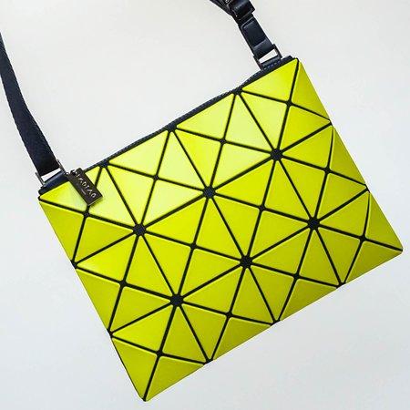 Issey Miyake Bao Bao Lucent Matte Crossbody Bag - Lime