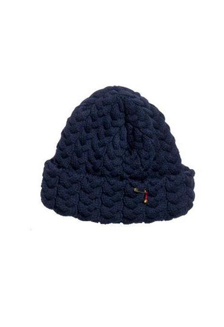 BLUE BLUE JAPAN Chunky Cable Knit Hat - Navy
