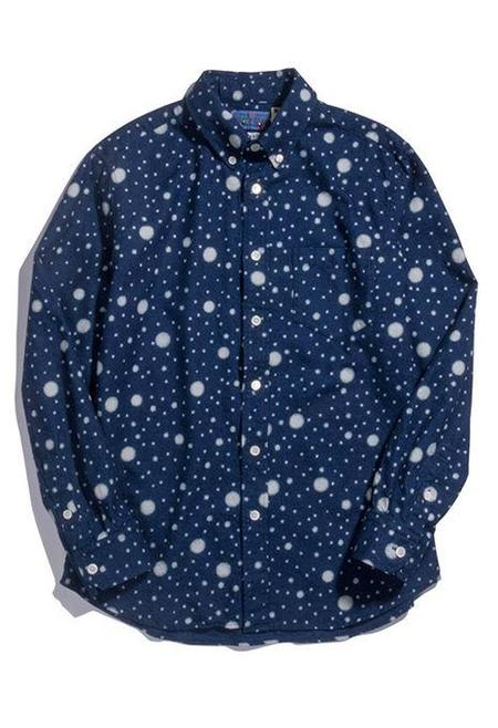 Blue Blue Japan Twill Button Up Shirt - Snowflake Indigo