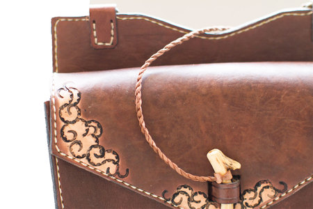 Kias Leather Handmade SQU Handbag