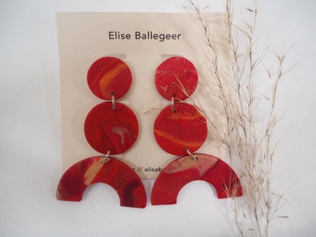 Elise Ballegeer Maya Earrings - Marz
