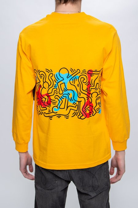 Diamond Supply Co. x Keith Haring Rhythm & Motion Long Sleeve T-Shirt - Yellow