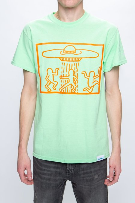 Diamond Supply Co. x Keith Haring Space Ships T-Shirt - Mint