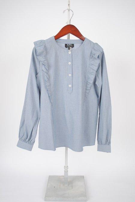 A.P.C. Noemie Blouse - Blue/White