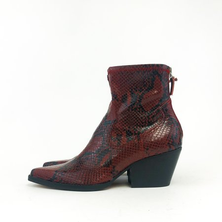 Dolce Vita Shanta ankle boot - red snake