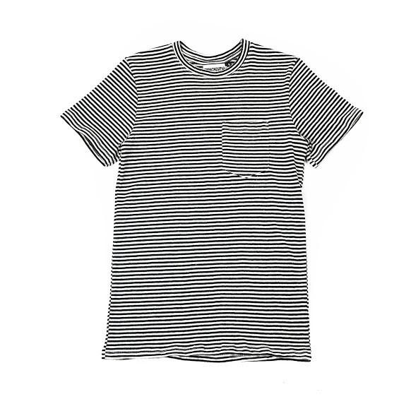 Jungmaven Striped Yarn Dyed Pocket Tee
