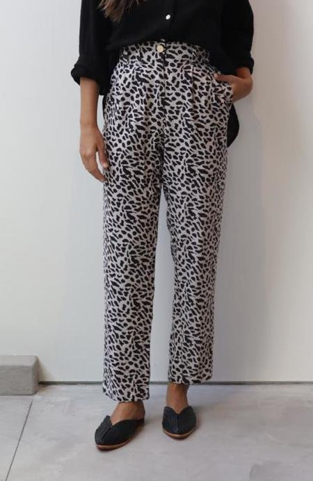 at Dawn. O'AHU Linen Trouser - Natural Cheetah