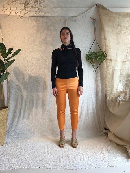 Baserange Marmo Stretch Silk Pants - Defoe Orange