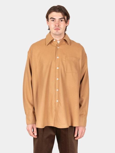 Our Legacy Borrowed Wool Shirt - Camel