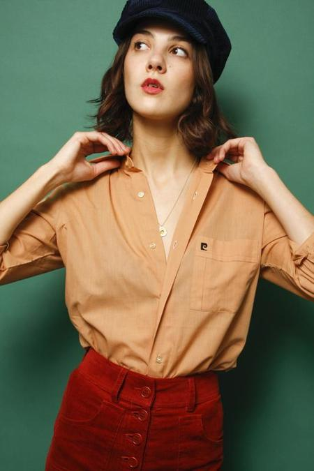 VINTAGE PIERRE CARDIN SHIRT - DUSTY PEACH
