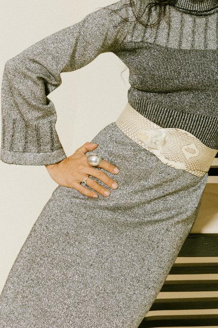 Sisterwife Vintage Anisette Metallic Dress - Silver