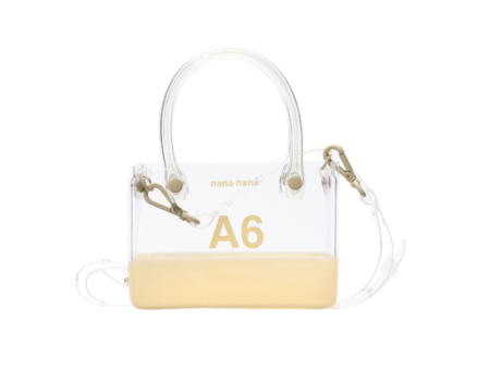 nana-nana PVC x Opaque A6 Bag - Clear/Cream