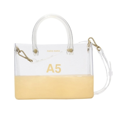 nana-nana PVC x Opaque A5 Bag - Clear/Cream