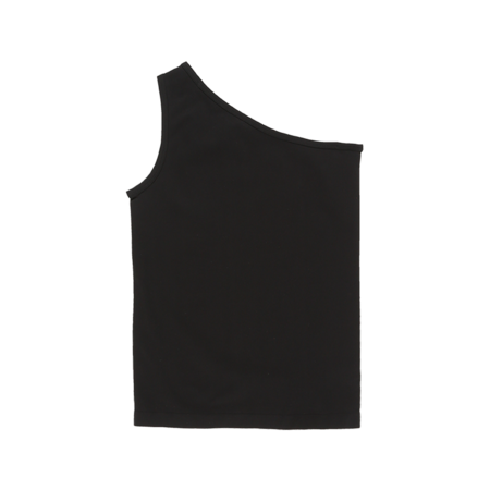 Helmut Lang Asymmetric Seamless Tank Top - Black