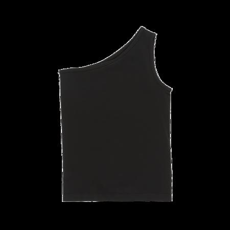 Helmut Lang Asymmetric Seamless Tank Top - Black
