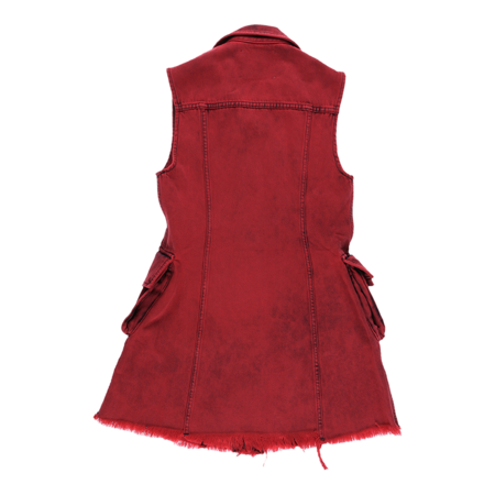 MARQUES ' ALMEIDA Multi Pocket Dress - Red
