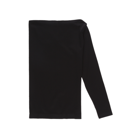 Helmut Lang Seamless One Shoulder Long Sleeve T-Shirt - Black