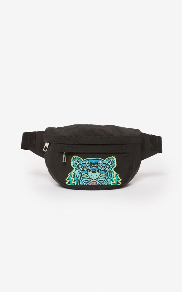 Kenzo Tiger Embroidered Mini Bumbag - Black