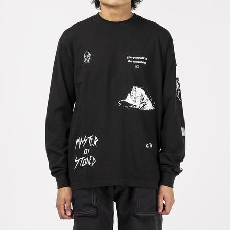 Mister Green Multi Long Sleeve T-shirt - Black