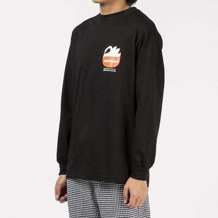 Sporadic Kiss Long Sleeve T-shirt - Black