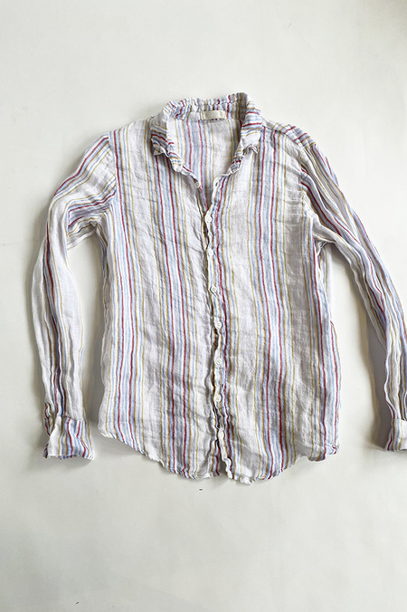 CP SHADES Rainbow Striped Linen Shirt - Primary Wsh