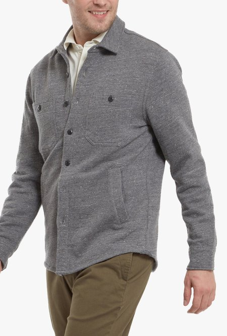 Grayers Bayswater Fleece CPO Shirt - Charcoal