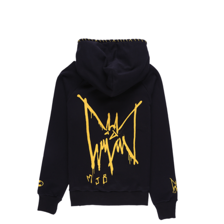 Marc Jacques Burton Double Hoodie - Black/Yellow