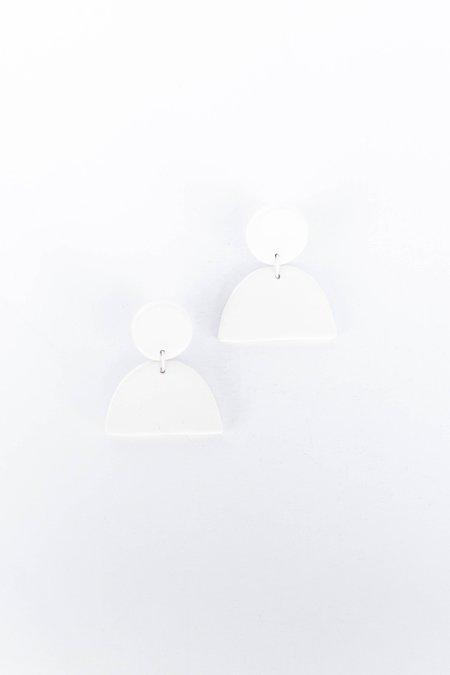 Guten Co Crescent Earring - Porcelain