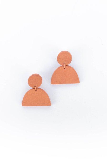 Guten Co Crescent Earring - Terra Cotta