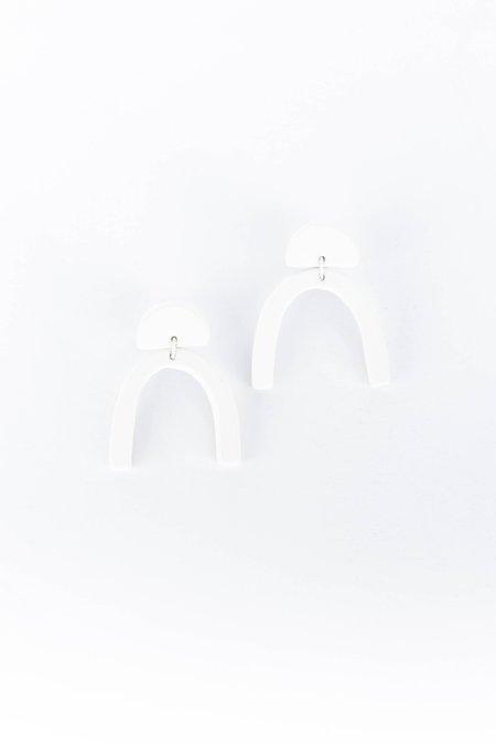 Guten Co Wishbone Earring - Porcelain