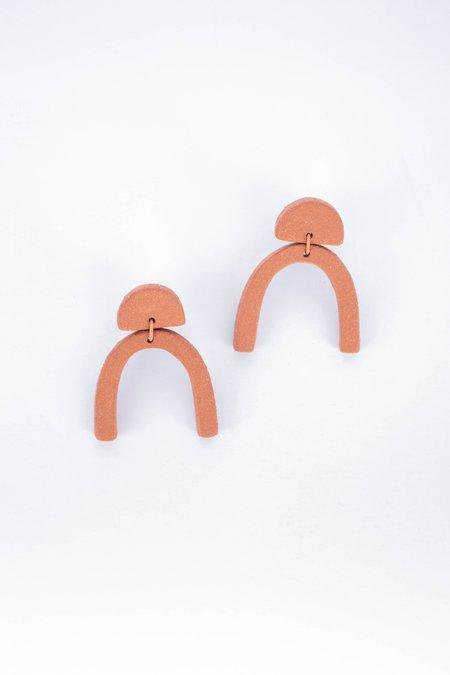 Guten Co Wishbone Earring - Terra Cotta