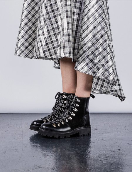 Grenson Nanette Leather Ski Boot - Black