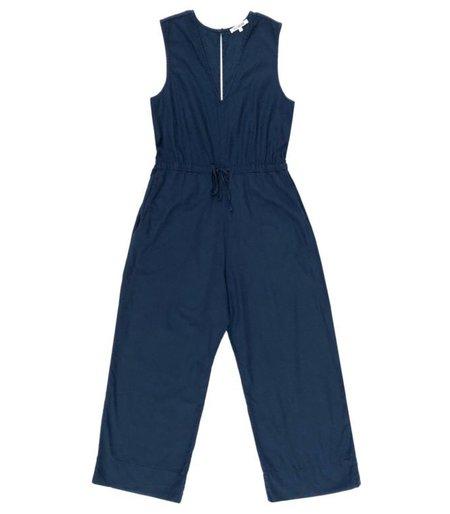 Ali Golden Cotton Slit-Back Jumper - Blue