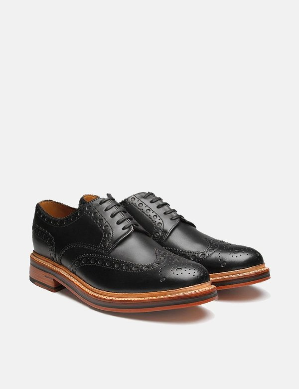 Grenson Archie Big Punch Brogue Shoes