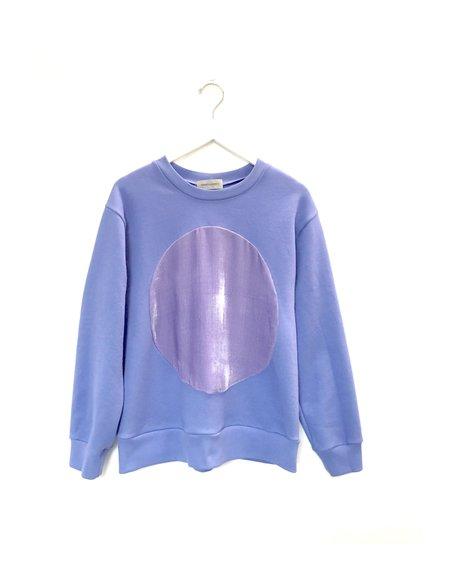 Unisex Correll Correll Velvet Circle Sweatshirt - Periwinkle