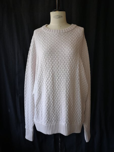 Berenik Oversized Cotton/Wool Knit Sweater - Ivory