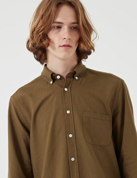 Portuguese Flannel Belavista Button Down Shirt - Olive Green