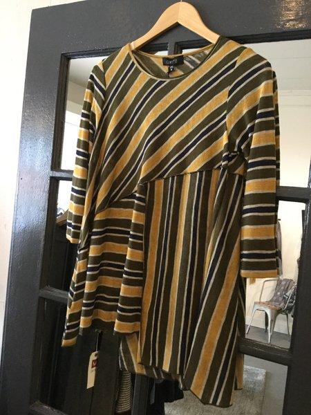 Comfy Striped Knit Blouse