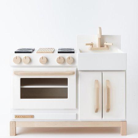 Kids Shop Merci Milo Essential Wooden Play Kitchen - White