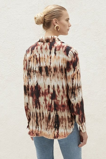 Nanushka Celes Shirt - Tie Dye Brown