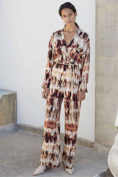 Nanushka Jax Jumpsuit - Tie Dye Brown