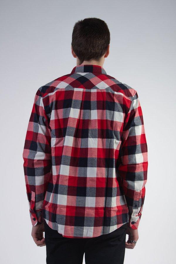 CARHARTT WIP Long Sleeve Keagan Shirt - Red/Check